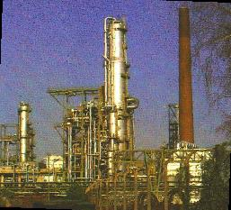 This is a View of the Crude Oil Destillation Column of my company
