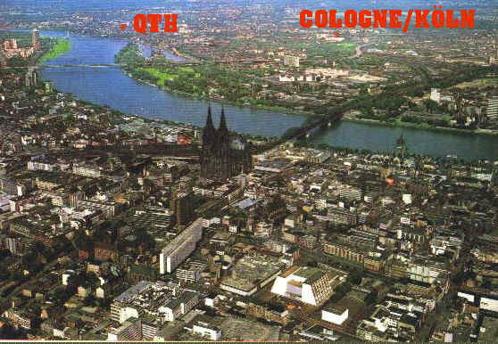 Aerial View of Cologne (Köln) - shows approximate location of where I live